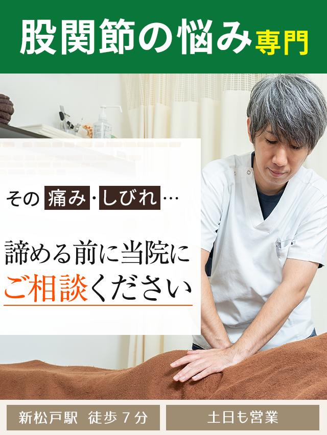 股関節の悩み専門